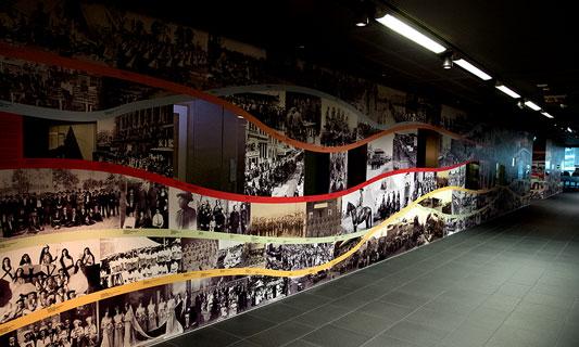 Treasures Wall installation