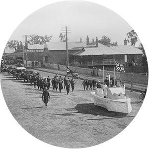 Street parade in Yandilla Street, Pittsworth, ca. 1899