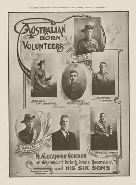 Australian Born Volunteers.