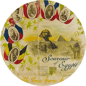 Souvenir of Egypt banner, 1915. Part of: Staunton Family Papers 1892-1917, OM72-90/7